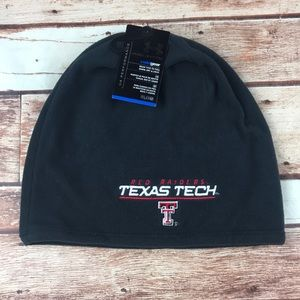 Texas Tech Red Raiders Black Fleece Skully Hat Cap